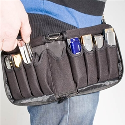 Carrying bag for 9 diatonic harmonicas.